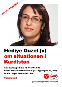 Affisch Hediye om Kurdistan 11 maj